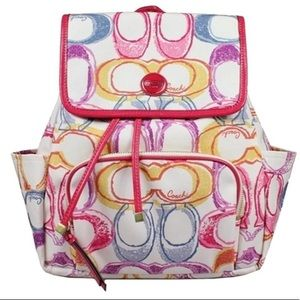COACH Backpack poppy print